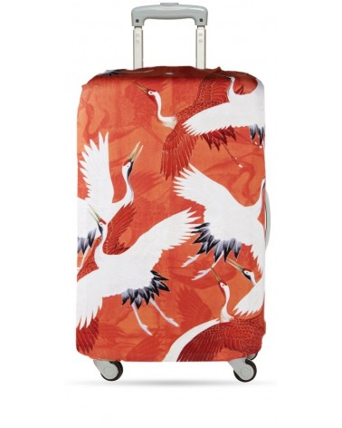 Housse de valise extensible WOMAN'S HAORI White and Red Cranes LOQI
