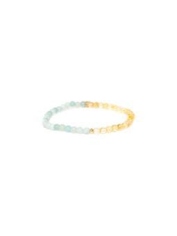 Kimono en coton imprimé Indigo