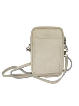 Bracelet en cuir multiliens tube Bleu céleste argenté Flowers for Zoé