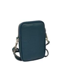 Bracelet en cuir mini multiliens Denim Noisette Flowers for Zoé