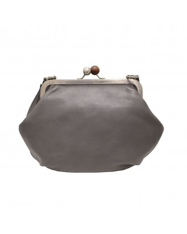 Cyan - GRAN MELISSA HANDBAG DREAM LEATHER GREY