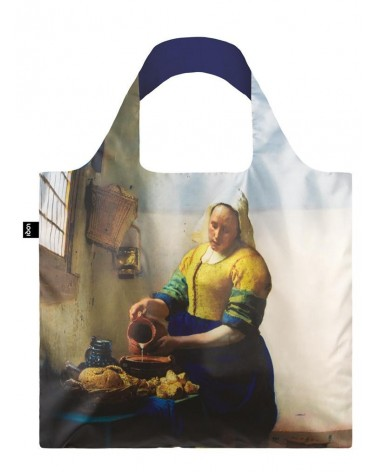 LOQI - Sac de courses pliable JOHANNES VERMEER The Milkmaid with Irma Boom