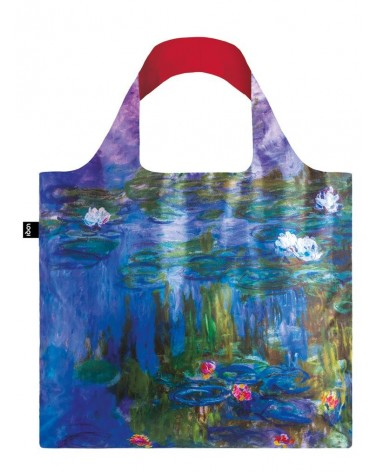 LOQI - Sac de courses pliable CLAUDE MONET Water Lilies
