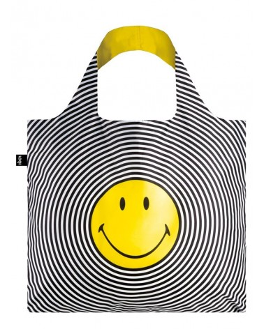 LOQI - Sac de courses pliable SMILEY Spiral