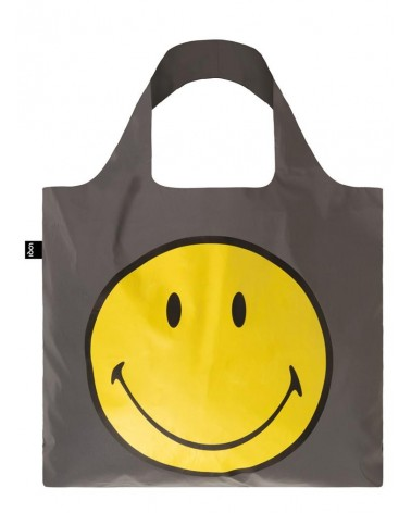 LOQI - Sac de courses pliable REFLECTIVE Smiley