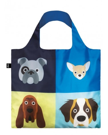 LOQI - Sac de courses pliable Stephen Cheetham Chiens