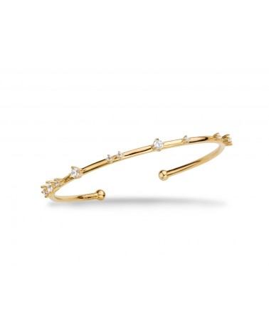 MYA BAY - Bracelet Hoops Pierres blanches