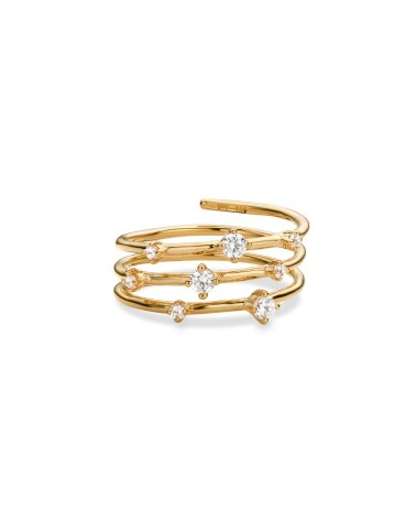 MYA BAY - Bague Hoops White Stone golden