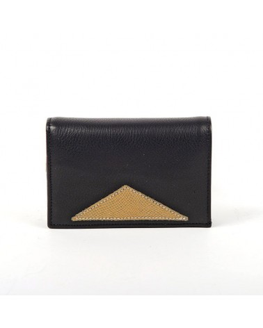 Antoinette Ameska - Chicago Wallet Black Lizard