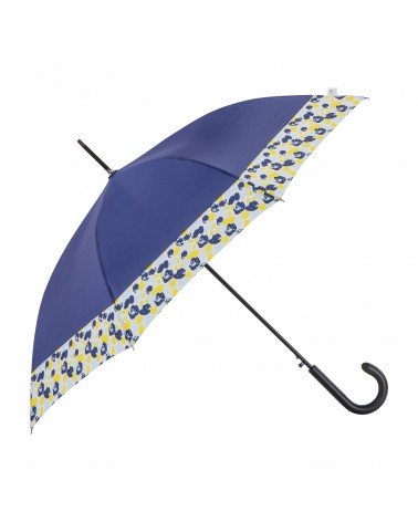 Chic il pleut - Umbrella Cane Polyester Navy Ocean Flowers