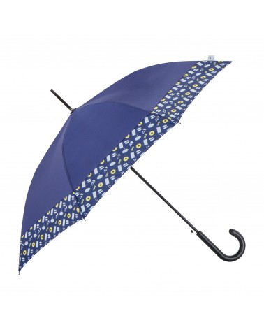 Chic il pleut - Parapluie Droit Canne Polyester Navy Swimming