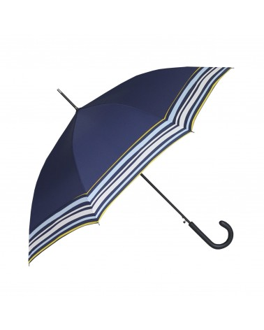 Chic il pleut - Umbrella Cane Polyester Navy Waves