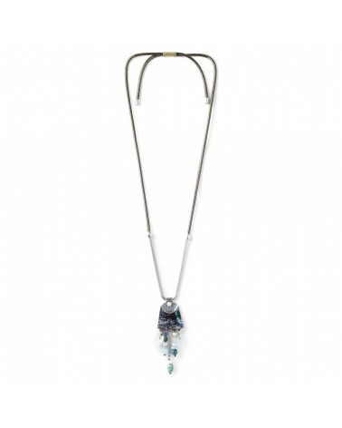 Nature Bijoux - LES AJUSTABLES paua long necklace