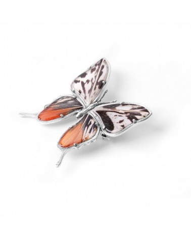 Nature Bijoux - PAPILLONS pheasant feather brooch