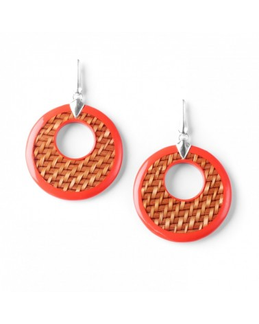 Nature Bijoux - MON PANIER Large disc Earrings