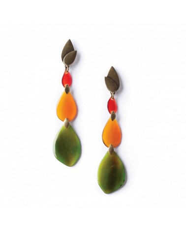 Nature Bijoux - LAND ART Long Earrings