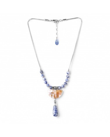 Nature Bijoux - SANTORINI small necklace with drop