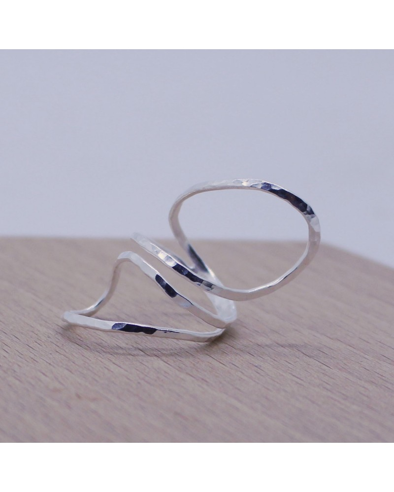 Georgia Charal - Bague grosse argent 925