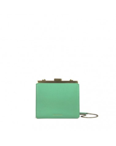 Tammy & Benjamin - JEANNE Peacock green Leather Clutch
