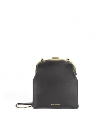 Tammy & Benjamin - JEANNE Black Leather Clutch