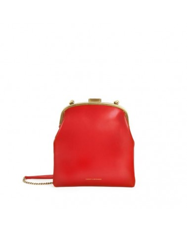 Tammy & Benjamin - EMMA Mars red Leather Retro Pouch