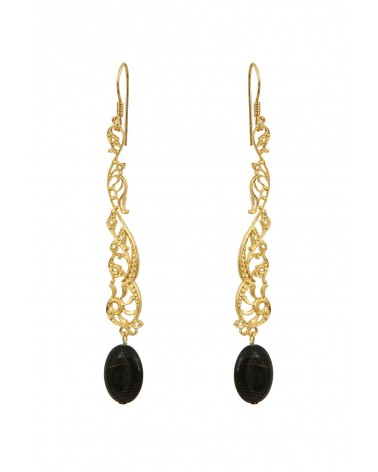 BY ZIA - Earrings Becka Black
