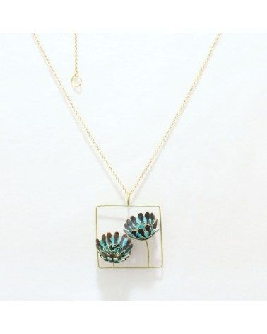 Paca Peca - Calendula Jardin Blue Necklace
