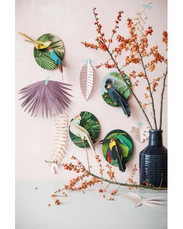 Studio ROOF - Wall decoration grey parrot