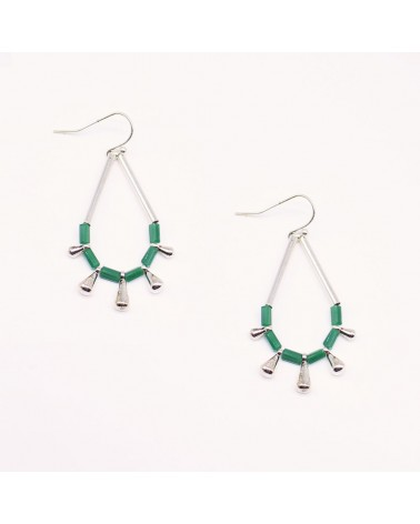 Shlomit Ofir - Boucles d'oreille Monsoon Argenté