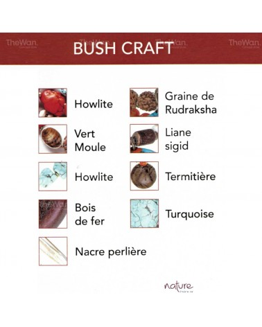Nature bijoux - BUSH CRAFT Boucles d'oreille crochet XL