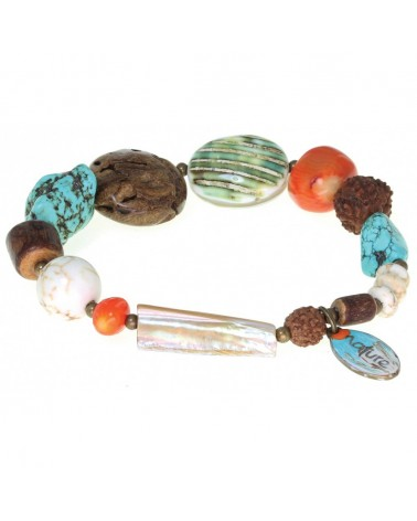 Nature bijoux - BUSH CRAFT Bracelet extensible mix