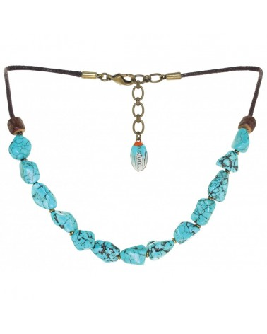 Nature bijoux - BUSH CRAFT Collier howlite turquoise