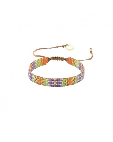 Mishky - Bracelet artisanal perles cousues main Track 5-BE-S-6311