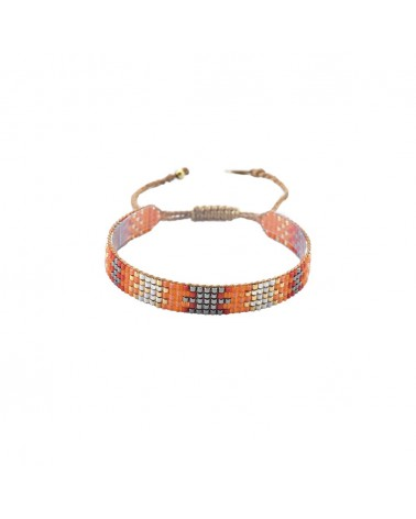 Mishky - Bracelet artisanal perles cousues main Track 5-BE-S-6321