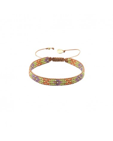 Mishky - Bracelet artisanal perles cousues main Track-BE-S-6310