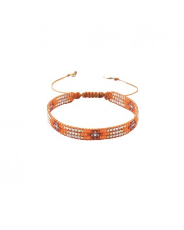 Mishky - Bracelet artisanal perles cousues main Track-BE-S-6314