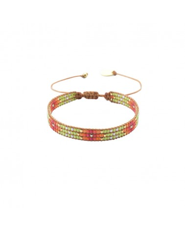 Mishky - Bracelet artisanal perles cousues main Track-BE-S-6351