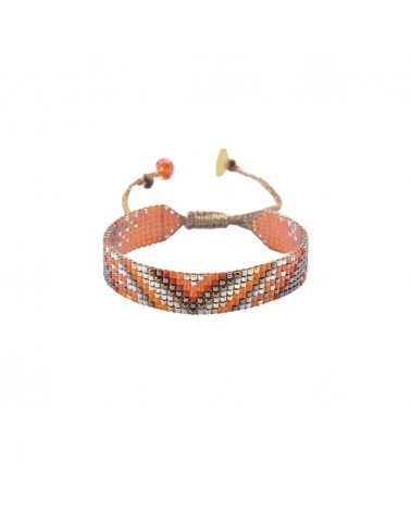 Mishky - Bracelet artisanal perles cousues main Track 7-BE-S-6320
