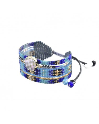 Mishky - Bracelet artisanal perles cousues main Medly Stone-BE-M-6707