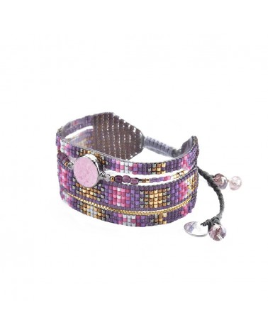 Mishky - Bracelet artisanal perles cousues main Medly Stone-BE-M-6708