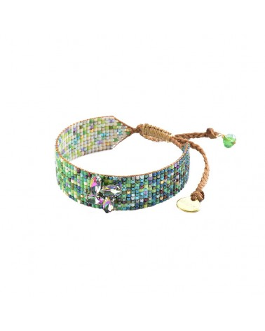 Mishky - Bracelet artisanal perles cousues main Ombre Crystal-BE-S-6823