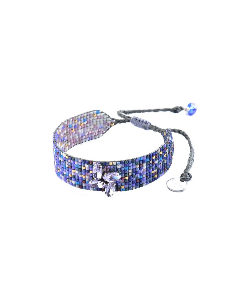 Mishky - Bracelet artisanal perles cousues main Ombre Crystal-BE-S-6824