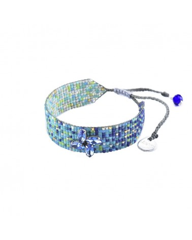 Mishky - Bracelet artisanal perles cousues main Ombre Crystal-BE-S-6835