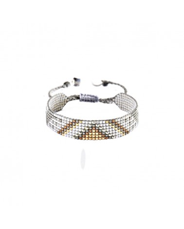 Mishky - Bracelet artisanal perles cousues main Track 7-BE-S-4717