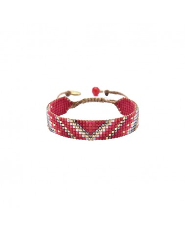 Mishky - Bracelet artisanal perles cousues main Track 7-BE-S-6534
