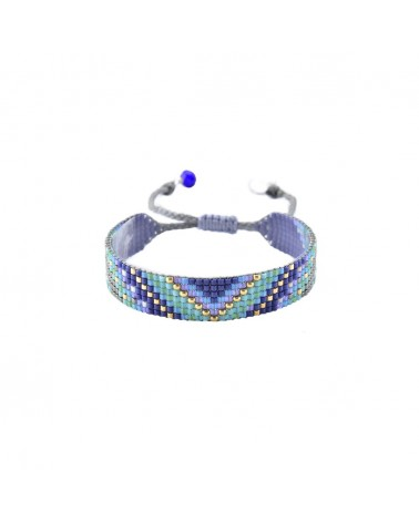 Mishky - Bracelet artisanal perles cousues main Track 7-BE-S-6748