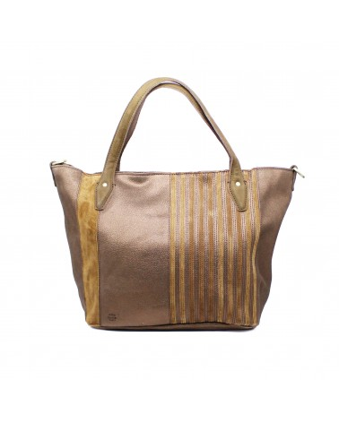 Mila Louise - Sac Cabas cuir Orville Glitter Cannelle