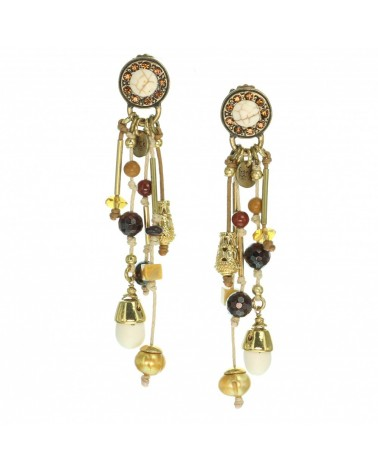 Franck herval - YOUNA Boucles d'oreilles poussoir top multi strass