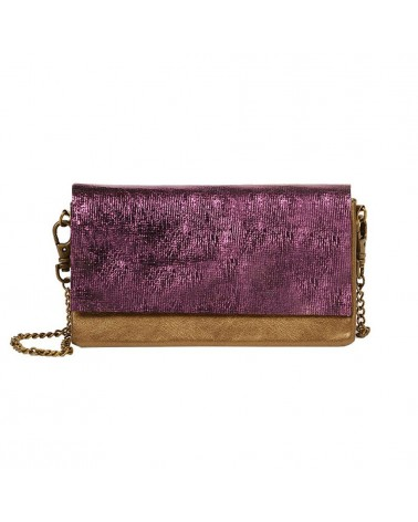 Antoinette Ameska - Canari Clutch Bag For Mobile Bronze Cracked Purple