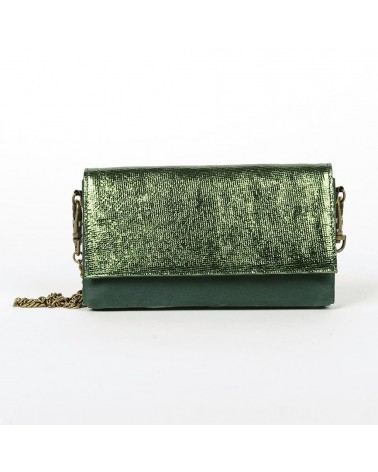 Antoinette Ameska - Canari Clutch Bag For Mobile Forest Green Cracked
